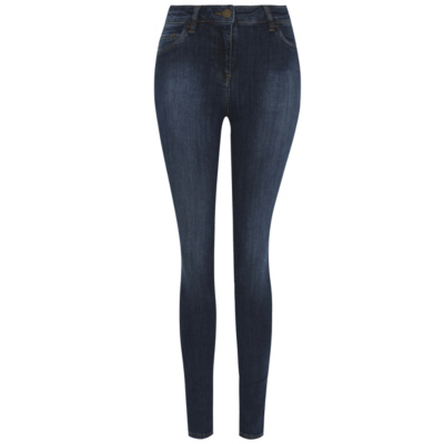 Wonderform Skinny Jeans Dark Denim - style: skinny leg; length: standard; pattern: plain; waist: high rise; pocket detail: traditional 5 pocket; predominant colour: navy; occasions: casual; fibres: cotton - stretch; texture group: denim; pattern type: fabric; season: s/s 2016; wardrobe: basic