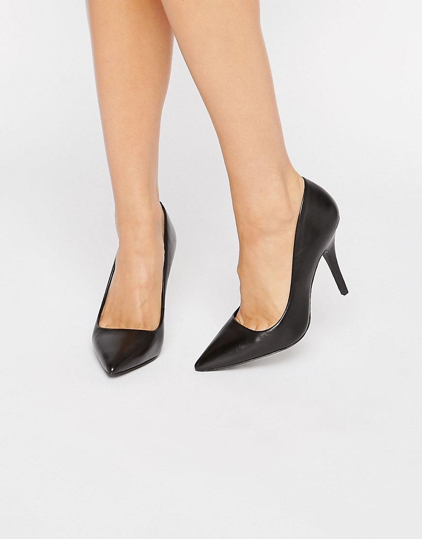 Simple Court Shoes Black - predominant colour: black; occasions: evening, occasion; material: leather; heel height: high; heel: stiletto; toe: pointed toe; style: courts; finish: plain; pattern: plain; season: s/s 2016; wardrobe: event