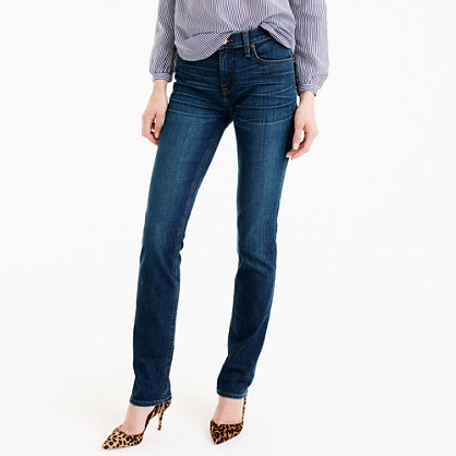 Petite Matchstick Jean In Hazel Wash - style: skinny leg; length: standard; pattern: plain; waist: high rise; pocket detail: traditional 5 pocket; predominant colour: navy; occasions: casual, evening, creative work; fibres: cotton - stretch; jeans detail: shading down centre of thigh, dark wash; texture group: denim; pattern type: fabric; season: s/s 2016; wardrobe: basic