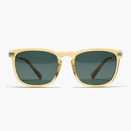 Syd Sunglasses - predominant colour: yellow; secondary colour: dark green; occasions: casual, holiday; style: square; size: standard; material: plastic/rubber; pattern: plain; finish: plain; season: s/s 2016