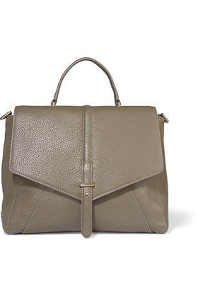 Leather Tote Mushroom - predominant colour: taupe; occasions: casual, work, creative work; type of pattern: standard; style: tote; length: handle; size: standard; material: leather; pattern: plain; finish: plain; season: s/s 2016; wardrobe: investment