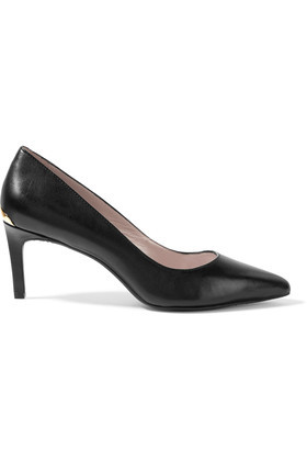 Eviey Leather Pumps Black - predominant colour: black; occasions: work; material: leather; heel height: high; heel: standard; toe: pointed toe; style: courts; finish: plain; pattern: plain; season: s/s 2016; wardrobe: investment