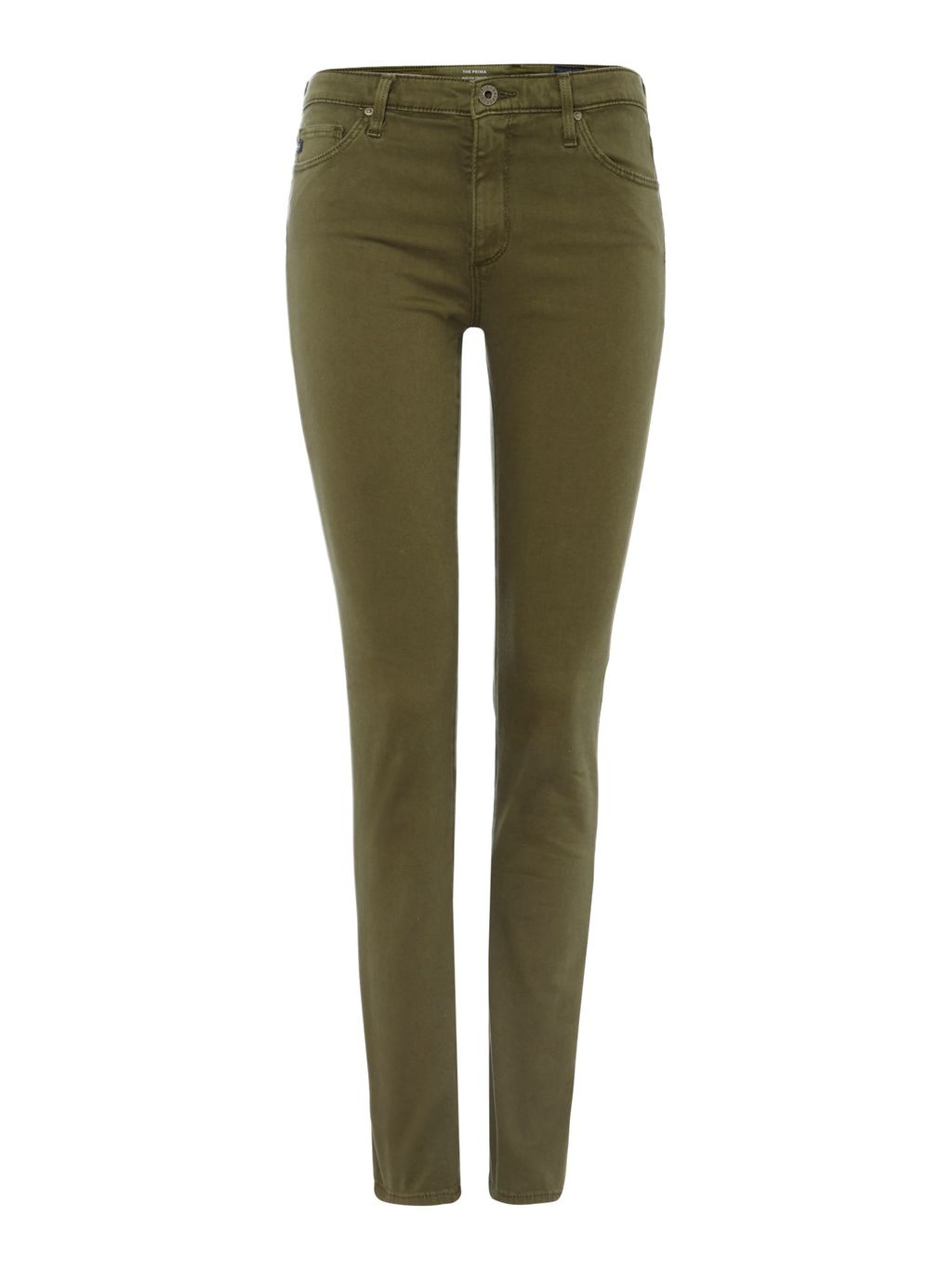 Prima Cigarette Jean In Sulfur Olive Night, Denim Rinse - style: skinny leg; length: standard; pattern: plain; pocket detail: traditional 5 pocket; waist: mid/regular rise; predominant colour: khaki; occasions: casual, creative work; fibres: cotton - stretch; texture group: denim; pattern type: fabric; season: s/s 2016; wardrobe: highlight
