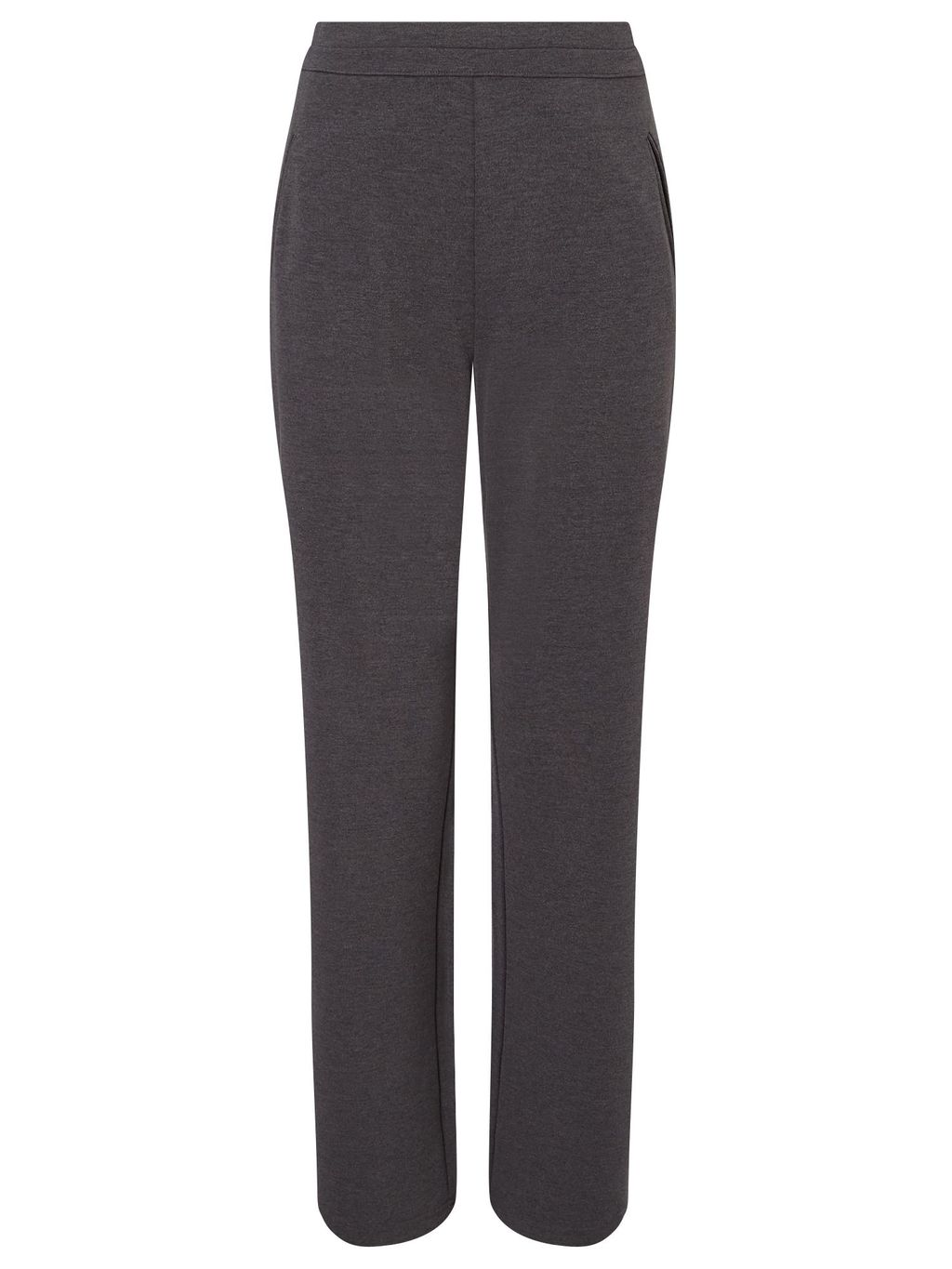 Grey Interlock Jogger Long, Grey - length: standard; waist: mid/regular rise; predominant colour: mid grey; occasions: casual; fibres: polyester/polyamide - 100%; fit: straight leg; pattern type: fabric; texture group: other - light to midweight; style: standard; pattern: marl; season: s/s 2016; wardrobe: basic