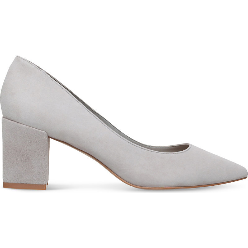 Allowed Pointed Suede Courts, Women's, Eur 39 / 6 Uk Women, Grey - predominant colour: light grey; occasions: work, creative work; material: suede; heel height: high; heel: block; toe: pointed toe; style: courts; finish: plain; pattern: plain; season: s/s 2016; wardrobe: investment