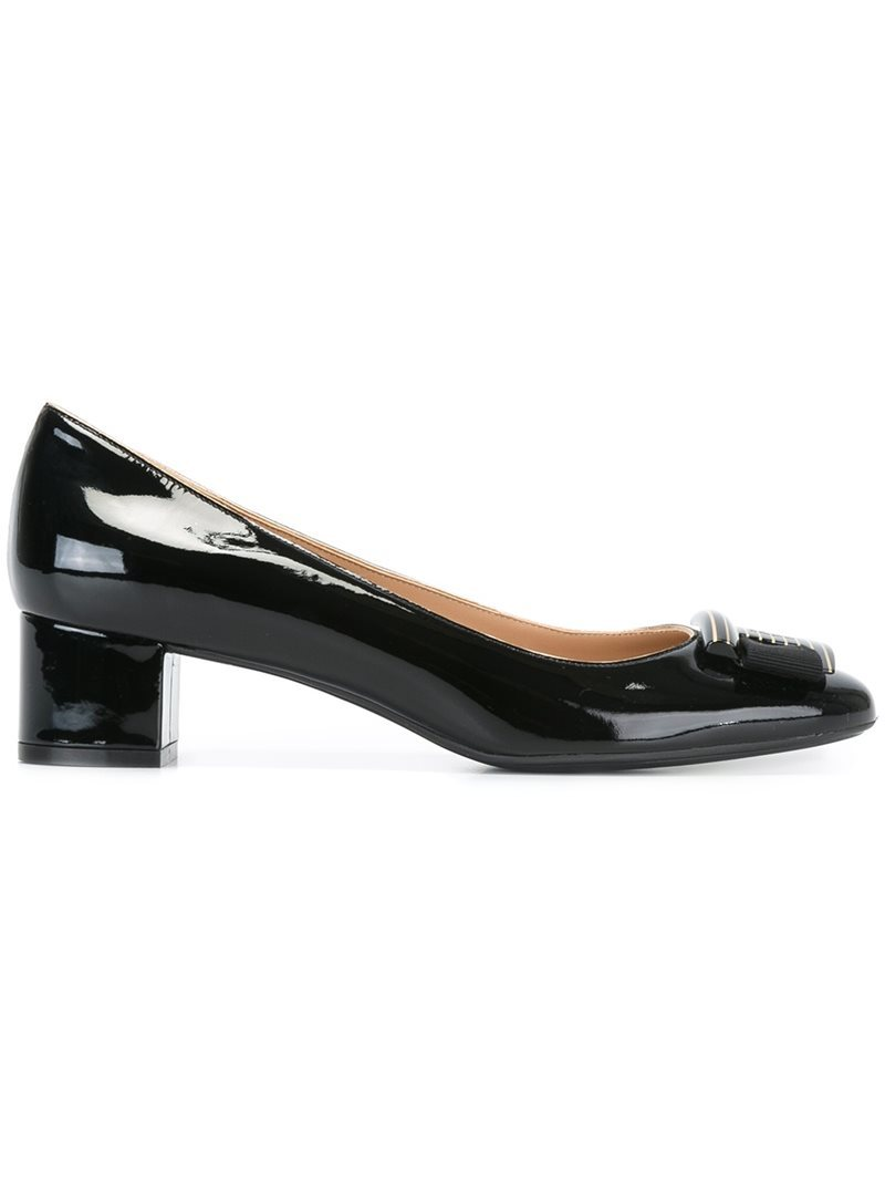 'ninna' Pumps, Women's, Black - predominant colour: black; occasions: evening; material: leather; heel height: mid; heel: block; toe: round toe; style: courts; finish: patent; pattern: plain; season: s/s 2016; wardrobe: event