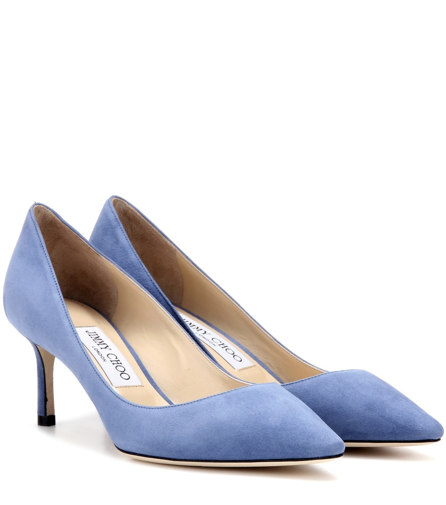 Romy 60 Suede Pumps - predominant colour: pale blue; occasions: evening, occasion, creative work; material: suede; heel height: high; heel: stiletto; toe: pointed toe; style: courts; finish: plain; pattern: plain; season: s/s 2016