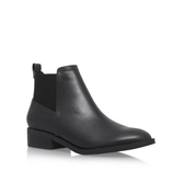 Tion - predominant colour: black; occasions: casual, creative work; material: leather; heel height: mid; heel: block; toe: round toe; boot length: ankle boot; finish: plain; pattern: plain; style: chelsea; season: s/s 2016; wardrobe: basic