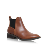 Tion - predominant colour: tan; occasions: casual, creative work; material: leather; heel height: flat; heel: block; toe: round toe; boot length: ankle boot; finish: plain; pattern: plain; style: chelsea; season: s/s 2016; wardrobe: highlight