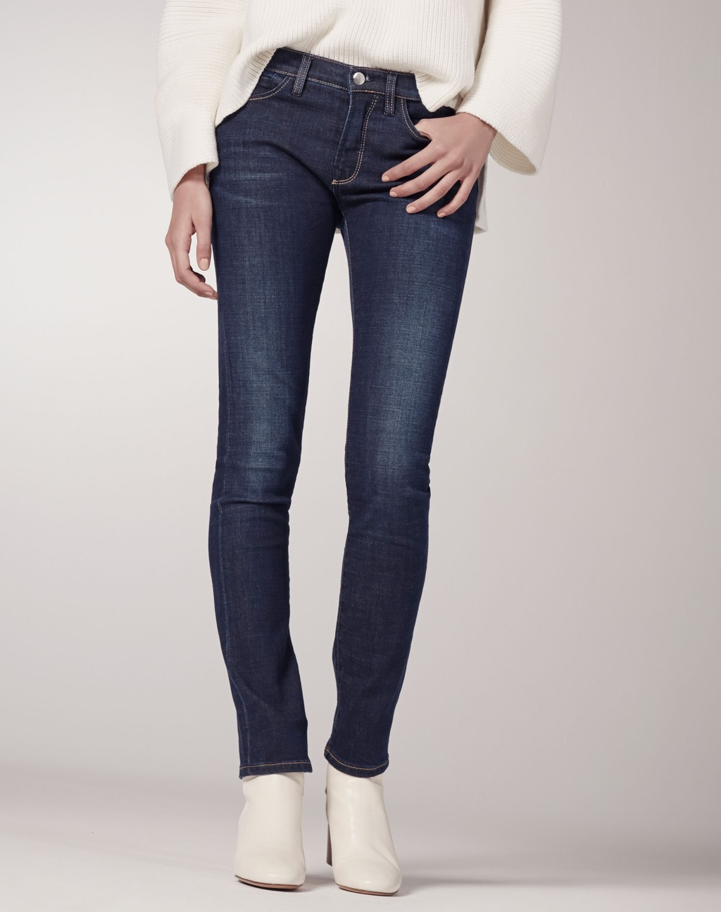 Straight Fit Jean Deep Blue - style: straight leg; length: standard; pattern: plain; pocket detail: traditional 5 pocket; waist: mid/regular rise; predominant colour: navy; occasions: casual; fibres: cotton - stretch; texture group: denim; pattern type: fabric; season: s/s 2016; wardrobe: basic