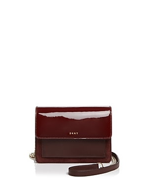 Mini Flap Crossbody - predominant colour: burgundy; occasions: casual; type of pattern: standard; style: messenger; length: across body/long; size: standard; material: leather; pattern: plain; finish: patent; season: s/s 2016; wardrobe: highlight