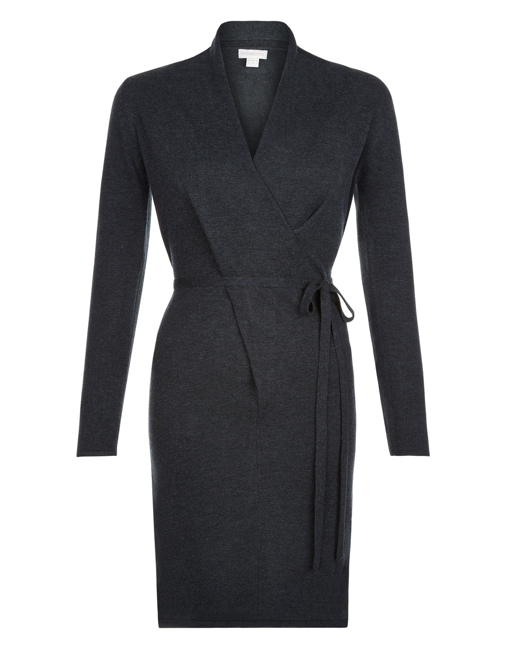 Valerie V Neck Twist Dress - style: faux wrap/wrap; neckline: v-neck; pattern: plain; waist detail: belted waist/tie at waist/drawstring; predominant colour: black; occasions: evening; length: just above the knee; fit: body skimming; fibres: viscose/rayon - stretch; sleeve length: long sleeve; sleeve style: standard; pattern type: fabric; texture group: jersey - stretchy/drapey; season: s/s 2016; wardrobe: event