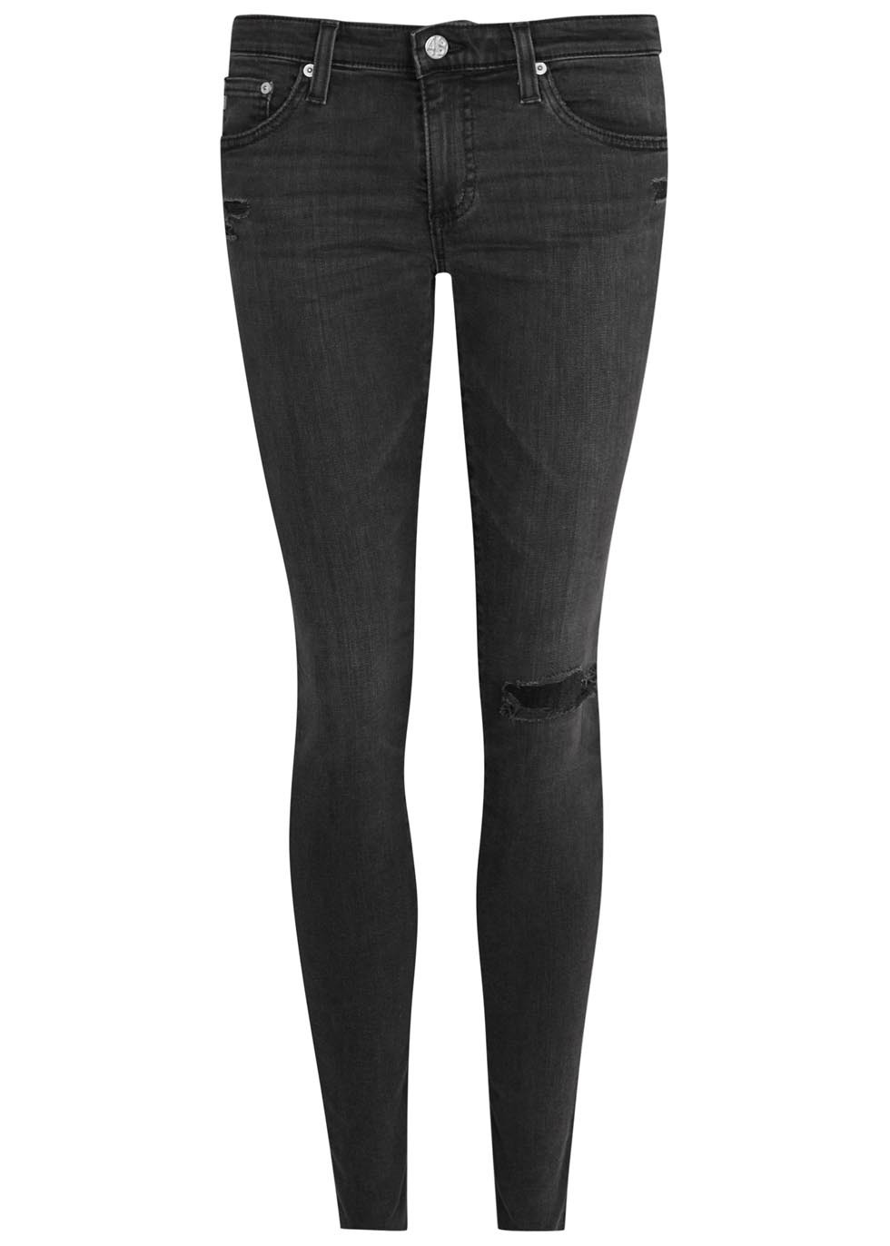 The Legging Ankle Black Skinny Jeans - style: skinny leg; length: standard; pattern: plain; pocket detail: traditional 5 pocket; waist: mid/regular rise; predominant colour: black; occasions: casual; fibres: cotton - stretch; texture group: denim; pattern type: fabric; season: s/s 2016; wardrobe: basic