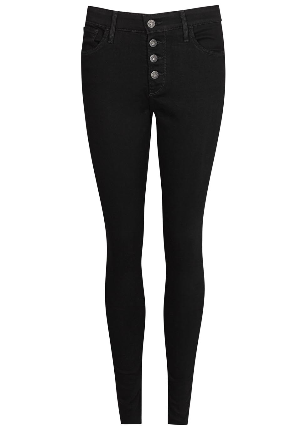The Farrah Black Skinny Jeans - style: skinny leg; length: standard; pattern: plain; waist: high rise; predominant colour: black; occasions: casual; fibres: cotton - stretch; texture group: denim; pattern type: fabric; season: s/s 2016; wardrobe: basic