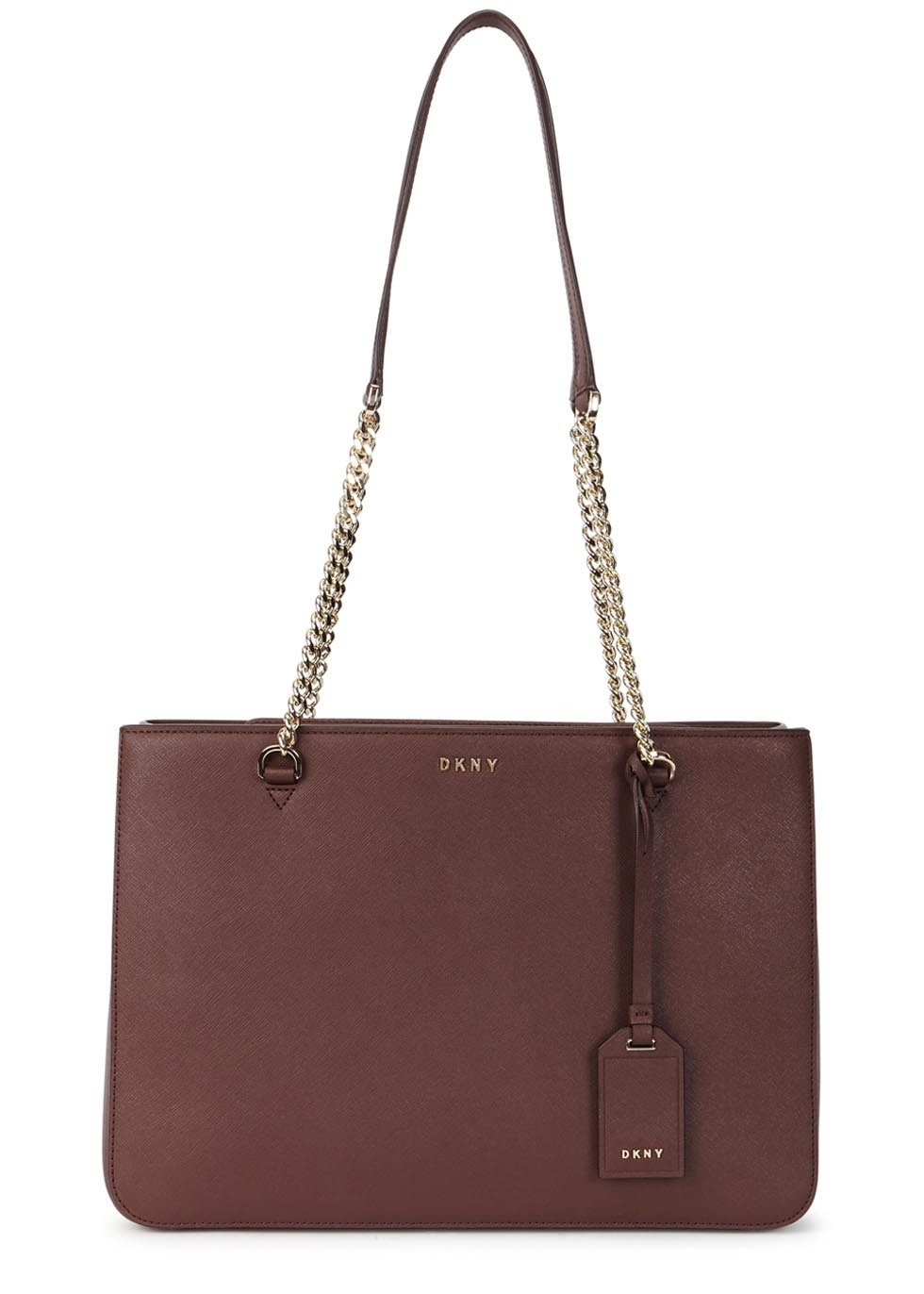 Bryant Park Burgundy Leather Shoulder Bag - predominant colour: tan; occasions: casual; type of pattern: standard; style: tote; length: shoulder (tucks under arm); size: standard; material: leather; pattern: plain; finish: plain; embellishment: chain/metal; season: s/s 2016; wardrobe: highlight