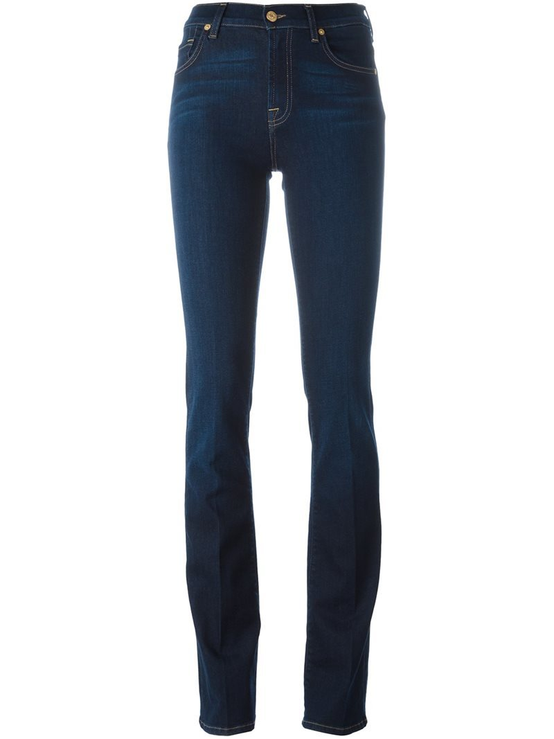 'kimmie' Bootcut Jeans, Women's, Blue - style: bootcut; length: standard; pattern: plain; waist: high rise; pocket detail: traditional 5 pocket; predominant colour: navy; occasions: casual, evening, creative work; fibres: cotton - stretch; jeans detail: dark wash; texture group: denim; pattern type: fabric; season: s/s 2016; wardrobe: basic