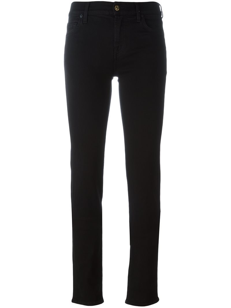 'the Slim Roxanne' Jeans, Women's, Black - length: standard; pattern: plain; pocket detail: traditional 5 pocket; style: slim leg; waist: mid/regular rise; predominant colour: black; occasions: casual, creative work; fibres: cotton - stretch; texture group: denim; pattern type: fabric; season: s/s 2016; wardrobe: basic