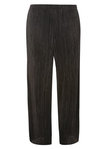 Womens **Dp Curve Black Plisse High Waisted Trousers Black - length: standard; pattern: plain; waist: mid/regular rise; predominant colour: black; occasions: casual, creative work; fibres: polyester/polyamide - 100%; fit: straight leg; pattern type: fabric; texture group: other - light to midweight; style: standard; season: s/s 2016