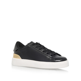 Palyla3 - predominant colour: black; occasions: casual, activity; material: faux leather; heel height: flat; toe: round toe; style: trainers; finish: plain; pattern: plain; season: s/s 2016