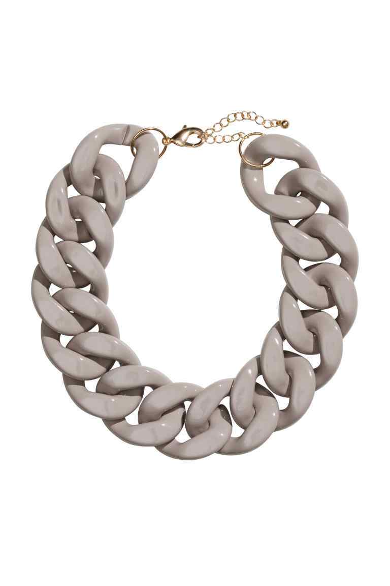 Short Necklace - predominant colour: silver; occasions: evening; style: choker/collar/torque; length: short; size: large/oversized; material: chain/metal; finish: metallic; season: s/s 2016; wardrobe: event