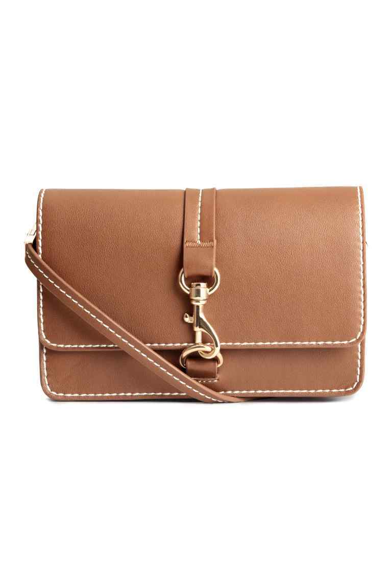 Small Shoulder Bag - predominant colour: camel; occasions: casual; type of pattern: standard; style: shoulder; length: across body/long; size: small; material: faux leather; pattern: plain; finish: plain; season: s/s 2016; wardrobe: investment