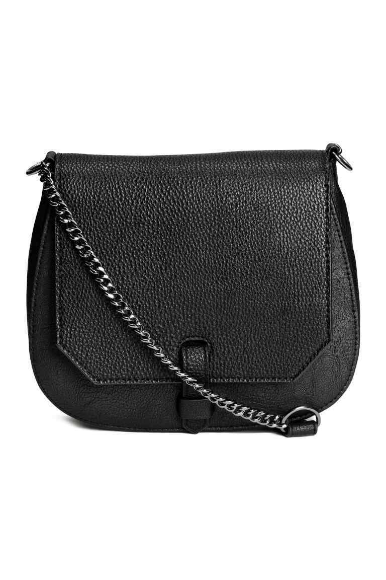 Small Shoulder Bag - predominant colour: black; occasions: casual, creative work; type of pattern: standard; style: shoulder; length: shoulder (tucks under arm); size: standard; material: faux leather; pattern: plain; finish: plain; season: s/s 2016; wardrobe: investment