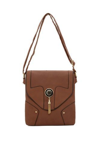 Sally Young Envelope Bag - predominant colour: chocolate brown; occasions: casual, creative work; type of pattern: standard; style: messenger; length: shoulder (tucks under arm); size: standard; material: faux leather; pattern: plain; finish: plain; season: s/s 2016; wardrobe: basic