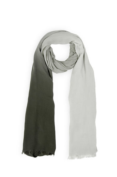 Ombre Scarf - secondary colour: charcoal; predominant colour: light grey; occasions: casual, creative work; type of pattern: standard; style: regular; size: standard; material: fabric; pattern: colourblock; season: s/s 2016; wardrobe: highlight