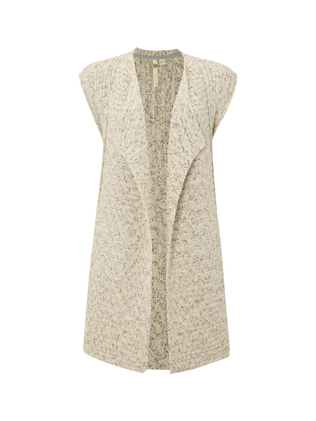 Flying Cardi, Natural - sleeve style: capped; pattern: plain; neckline: shawl; length: cropped; predominant colour: ivory/cream; occasions: casual, creative work; style: standard; fibres: cotton - mix; fit: loose; sleeve length: short sleeve; texture group: knits/crochet; pattern type: knitted - other; season: s/s 2016; wardrobe: basic