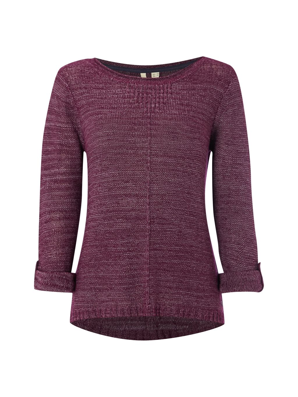 Vacay Jumper, Purple - neckline: round neck; pattern: plain; style: standard; predominant colour: purple; occasions: casual, creative work; length: standard; fibres: nylon - mix; fit: standard fit; sleeve length: 3/4 length; sleeve style: standard; texture group: knits/crochet; pattern type: knitted - fine stitch; season: s/s 2016; wardrobe: highlight