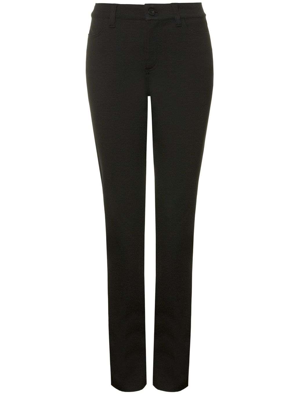 Slim Straight In Jersey, Black - length: standard; pattern: plain; waist: mid/regular rise; predominant colour: black; occasions: work; fit: slim leg; pattern type: fabric; texture group: woven light midweight; style: standard; fibres: viscose/rayon - mix; season: s/s 2016; wardrobe: basic