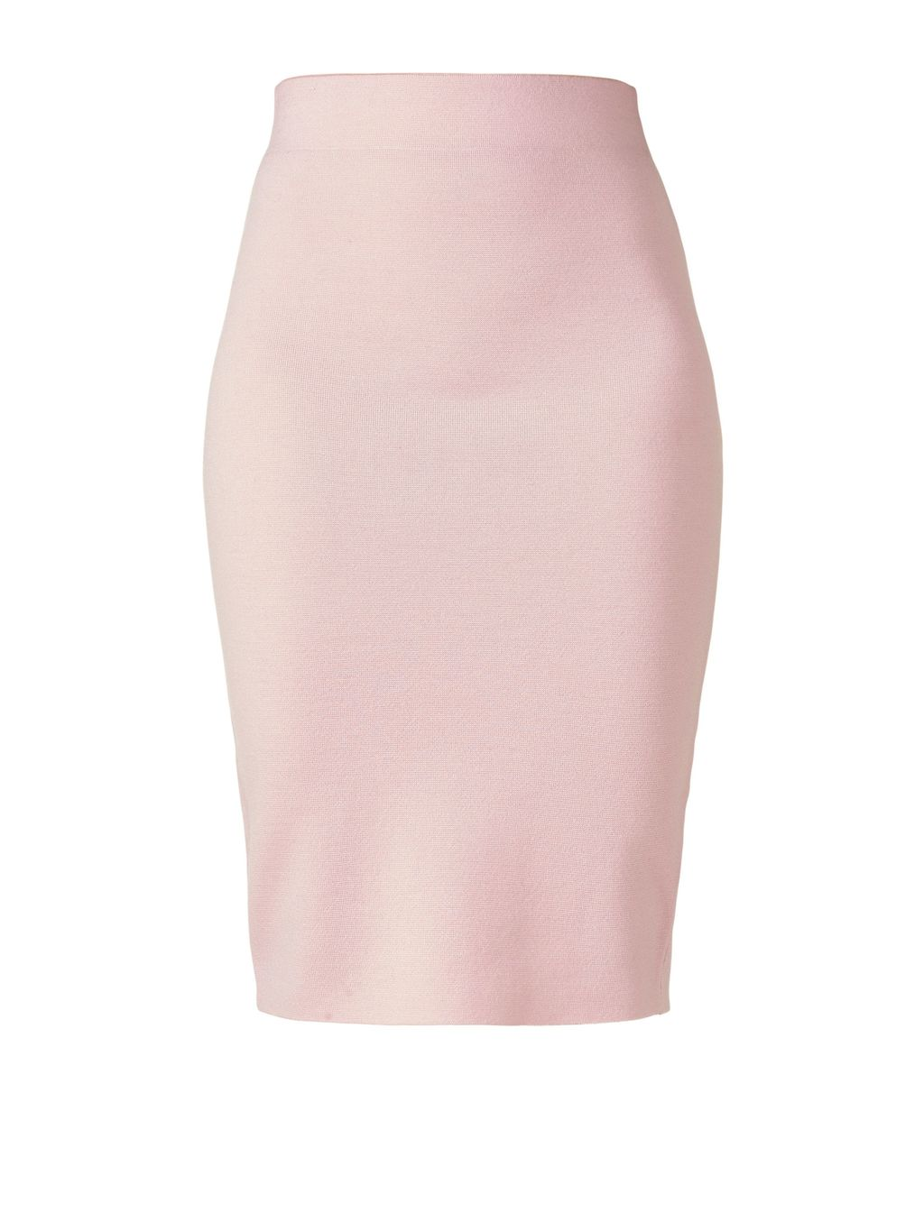 Milano Wool Skirt, Pink - pattern: plain; style: pencil; fit: tailored/fitted; waist: high rise; predominant colour: blush; occasions: work, occasion; length: just above the knee; fibres: wool - 100%; pattern type: fabric; texture group: woven light midweight; season: s/s 2016; wardrobe: basic