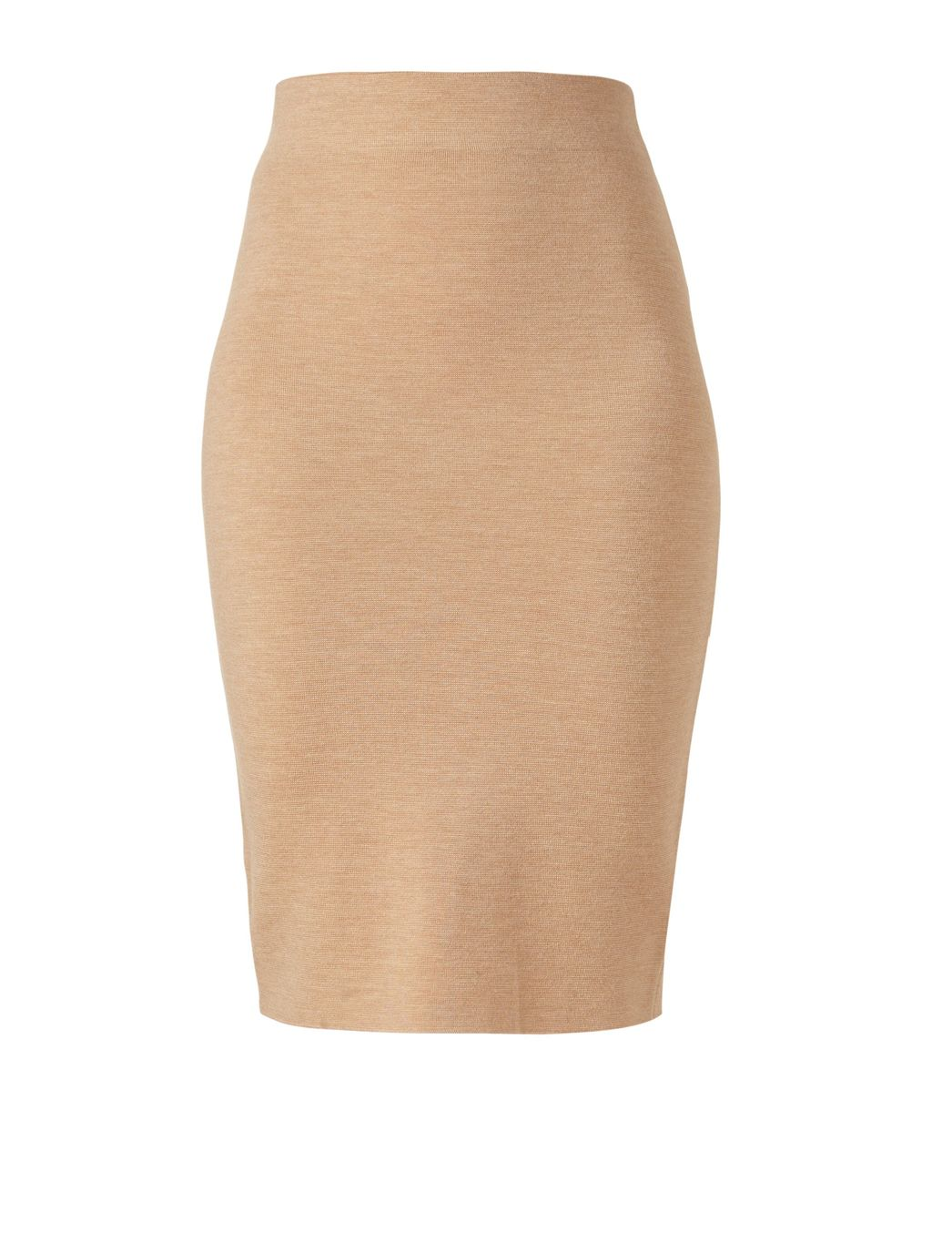 Milano Wool Skirt, Beige - pattern: plain; style: pencil; fit: tailored/fitted; waist: high rise; predominant colour: camel; occasions: work; length: just above the knee; fibres: wool - 100%; pattern type: fabric; texture group: woven light midweight; season: s/s 2016; wardrobe: basic