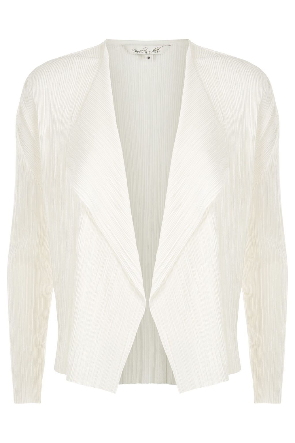 Issy Jacket, Ivory - pattern: plain; style: single breasted blazer; collar: round collar/collarless; predominant colour: white; length: standard; fit: tailored/fitted; fibres: polyester/polyamide - 100%; sleeve length: 3/4 length; sleeve style: standard; collar break: medium; pattern type: fabric; texture group: woven light midweight; occasions: creative work; season: s/s 2016