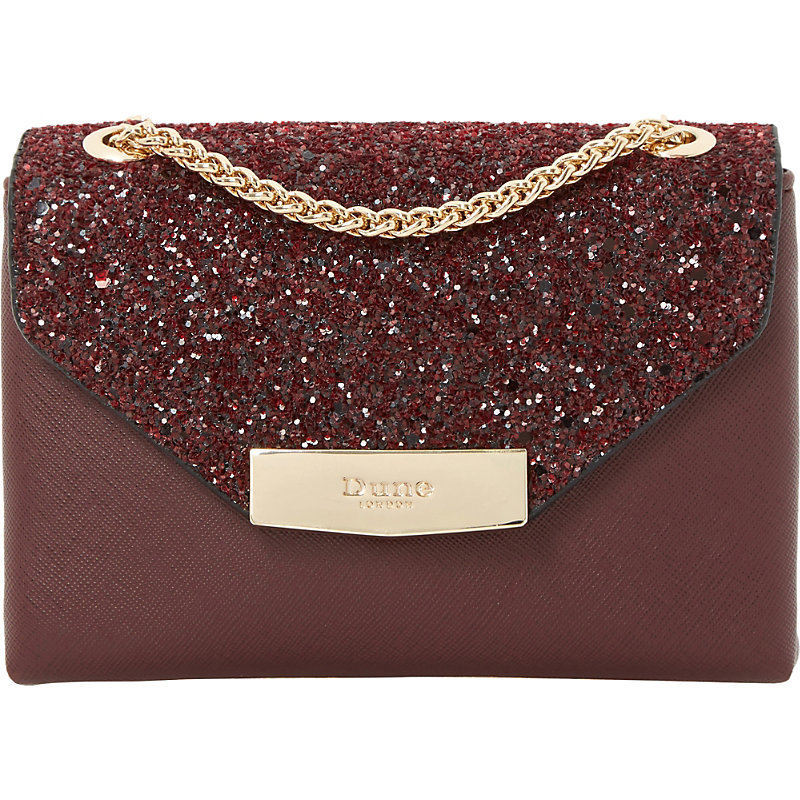 Serenity Faux Leather Sequin Micro Bag, Women's, Maroon - predominant colour: burgundy; occasions: evening; type of pattern: standard; style: clutch; length: hand carry; size: small; material: faux leather; embellishment: sequins; pattern: plain; finish: plain; season: s/s 2016; wardrobe: event
