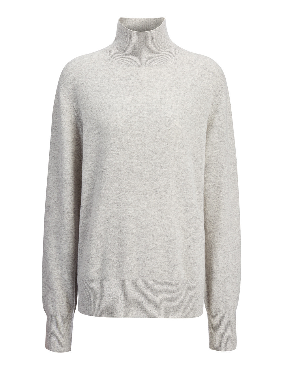 Soft Wool High Neck Top In Marble - pattern: plain; neckline: roll neck; predominant colour: light grey; occasions: casual, work, creative work; length: standard; style: top; fibres: wool - 100%; fit: straight cut; sleeve length: long sleeve; sleeve style: standard; texture group: knits/crochet; pattern type: knitted - fine stitch; season: s/s 2016; wardrobe: basic