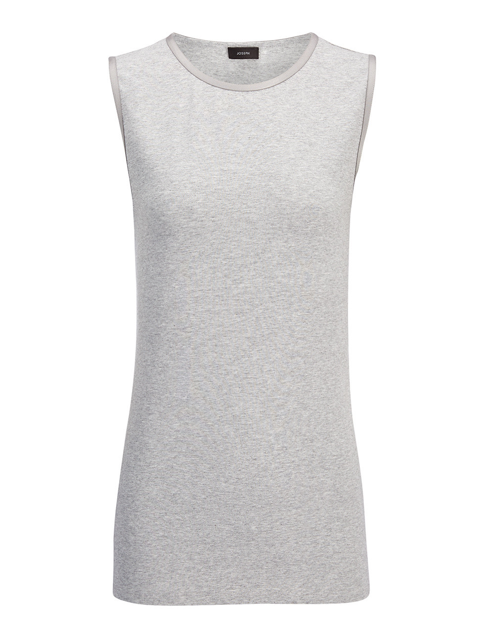 Cotton Lyocell Stretch Tank In Marble - neckline: round neck; pattern: plain; sleeve style: sleeveless; length: below the bottom; predominant colour: light grey; occasions: casual, creative work; style: top; fibres: cotton - 100%; fit: body skimming; sleeve length: sleeveless; pattern type: fabric; texture group: jersey - stretchy/drapey; season: s/s 2016; wardrobe: basic