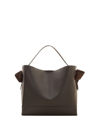 Contrasting Hobo Bag - predominant colour: chocolate brown; occasions: casual; type of pattern: standard; style: shoulder; length: shoulder (tucks under arm); size: standard; material: faux leather; pattern: plain; finish: plain; season: s/s 2016