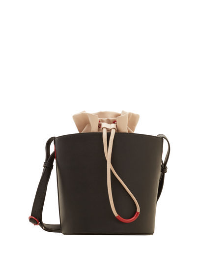 Bucket Bag - predominant colour: black; occasions: casual, creative work; type of pattern: standard; style: shoulder; length: across body/long; size: standard; material: leather; pattern: plain; finish: plain; season: s/s 2016; wardrobe: investment