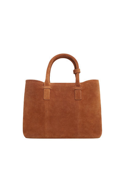 Leather Shopper Bag - predominant colour: tan; occasions: casual, creative work; type of pattern: standard; style: tote; length: handle; size: standard; material: leather; pattern: plain; finish: plain; season: s/s 2016; wardrobe: highlight