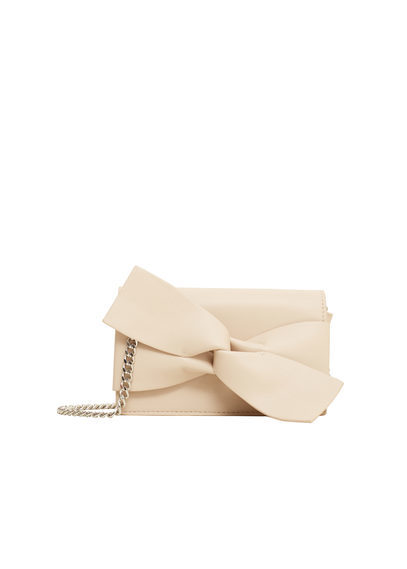 Small Knot Bag - predominant colour: ivory/cream; occasions: occasion; type of pattern: standard; style: clutch; length: shoulder (tucks under arm); size: small; material: faux leather; pattern: plain; finish: plain; embellishment: chain/metal; season: s/s 2016; wardrobe: event