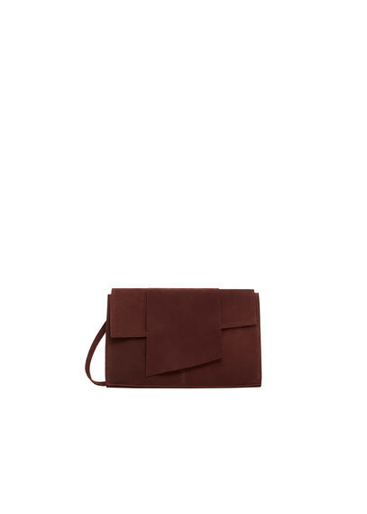 Leather Cross Body Bag - predominant colour: burgundy; occasions: casual; type of pattern: standard; style: shoulder; length: across body/long; size: standard; material: leather; pattern: plain; finish: plain; season: s/s 2016; wardrobe: highlight