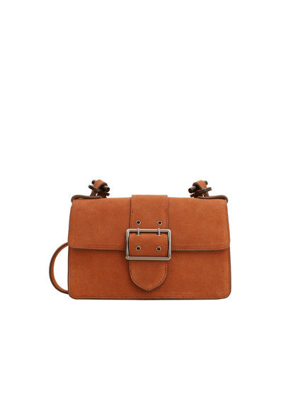 Chain Leather Bag - predominant colour: tan; occasions: casual; type of pattern: standard; style: messenger; length: across body/long; size: small; material: leather; pattern: plain; finish: plain; season: s/s 2016; wardrobe: highlight