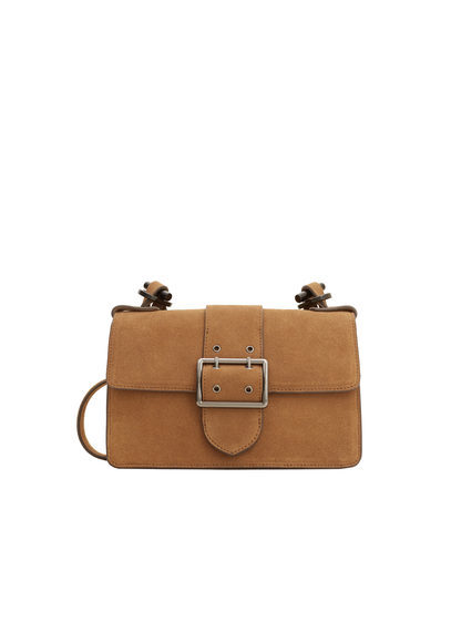 Chain Leather Bag - predominant colour: camel; occasions: casual; type of pattern: standard; style: messenger; length: across body/long; size: small; material: leather; pattern: plain; finish: plain; season: s/s 2016; wardrobe: basic