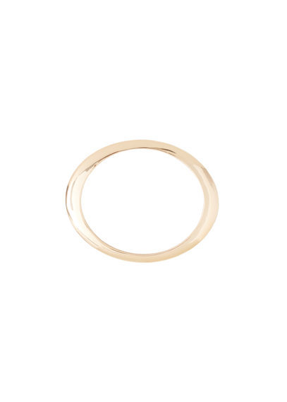 Rigid Bracelet - predominant colour: gold; occasions: evening, occasion; style: bangle/standard; size: standard; material: chain/metal; finish: metallic; season: s/s 2016; wardrobe: event