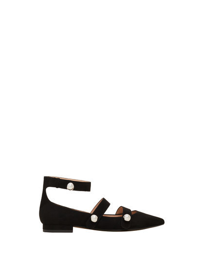 Pointed Toe Flat Shoes - predominant colour: black; occasions: casual, creative work; material: suede; heel height: flat; toe: pointed toe; style: ballerinas / pumps; finish: plain; pattern: plain; season: s/s 2016; wardrobe: basic