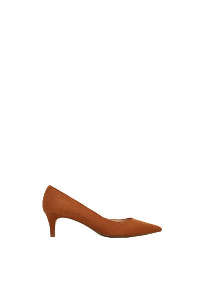 Kitten Heel Shoes - predominant colour: tan; occasions: evening; material: faux leather; heel height: mid; heel: kitten; toe: pointed toe; style: courts; finish: plain; pattern: plain; season: s/s 2016; wardrobe: event