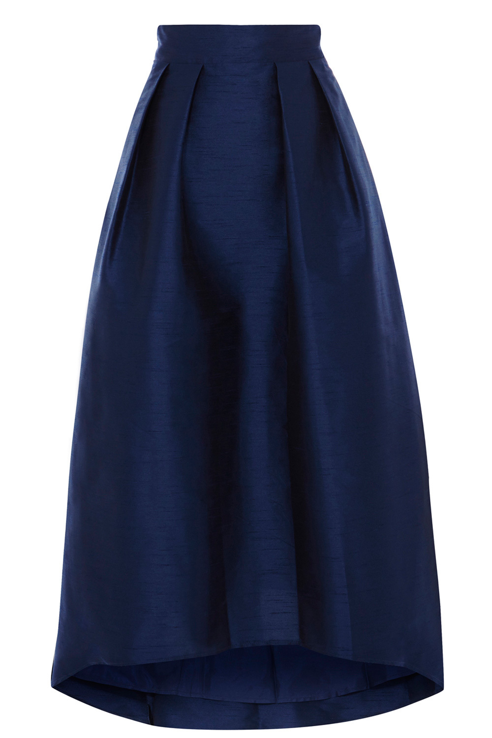 Ira Irridessa Hi Low Skirt - length: calf length; pattern: plain; style: full/prom skirt; fit: loose/voluminous; waist: mid/regular rise; predominant colour: navy; occasions: evening; fibres: polyester/polyamide - 100%; pattern type: fabric; texture group: other - light to midweight; season: s/s 2016; wardrobe: event