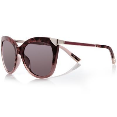 Womens Purple Cat Eye Sunglasses - predominant colour: purple; occasions: casual, holiday; style: cateye; size: large; material: plastic/rubber; pattern: plain; finish: plain; season: s/s 2016
