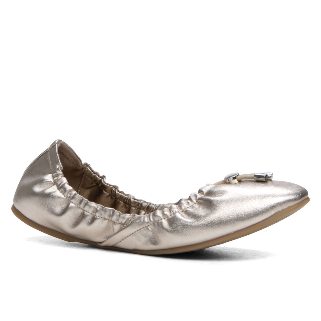 Pigovia Ballerina Shoes, Pewter - predominant colour: silver; occasions: casual; material: faux leather; heel height: flat; toe: round toe; style: ballerinas / pumps; finish: metallic; pattern: plain; season: s/s 2016; wardrobe: basic